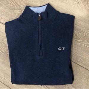 Vineyard Vines Boys Classic Zip Mock Neck Sweater